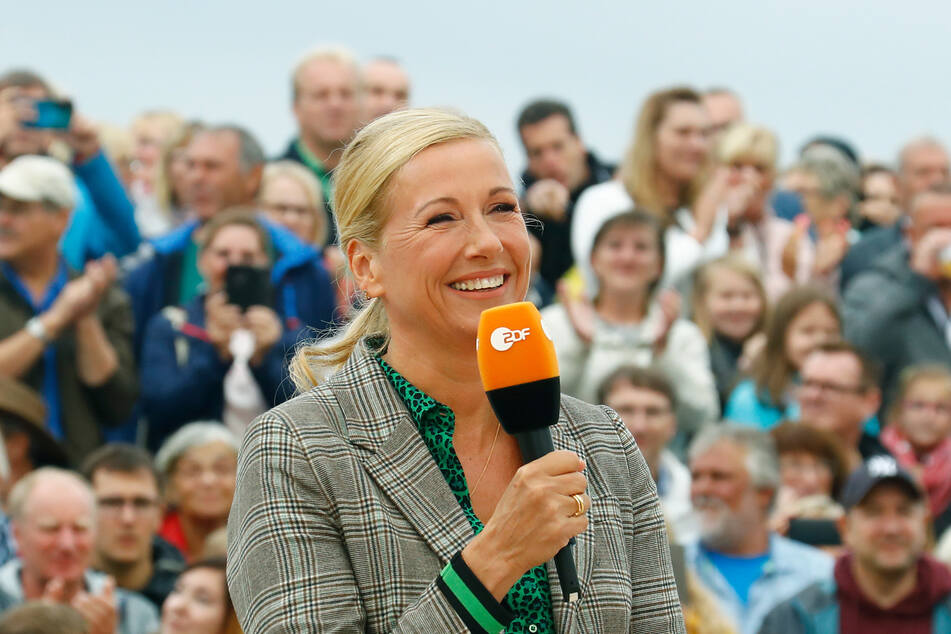 """Andrea Kiewel, Moderatorin des """"ZDF-Fernsehgartens""""."""