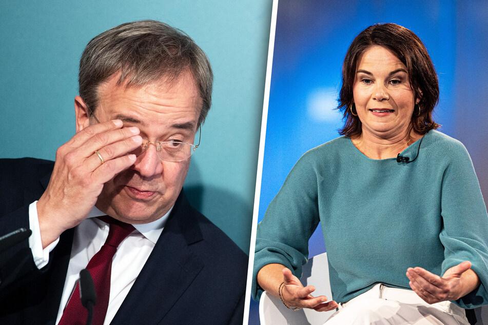 Armin Laschet (60, CDU) und Annalena Baerbock (40, Grüne) müssen sich vorsehen. In Umfragen schneiden sie immer schlechter ab.
