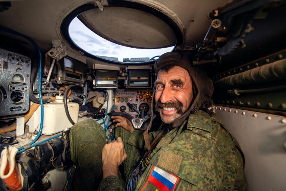 Ein Blick ins Innere des BMP-Schützenpanzers.