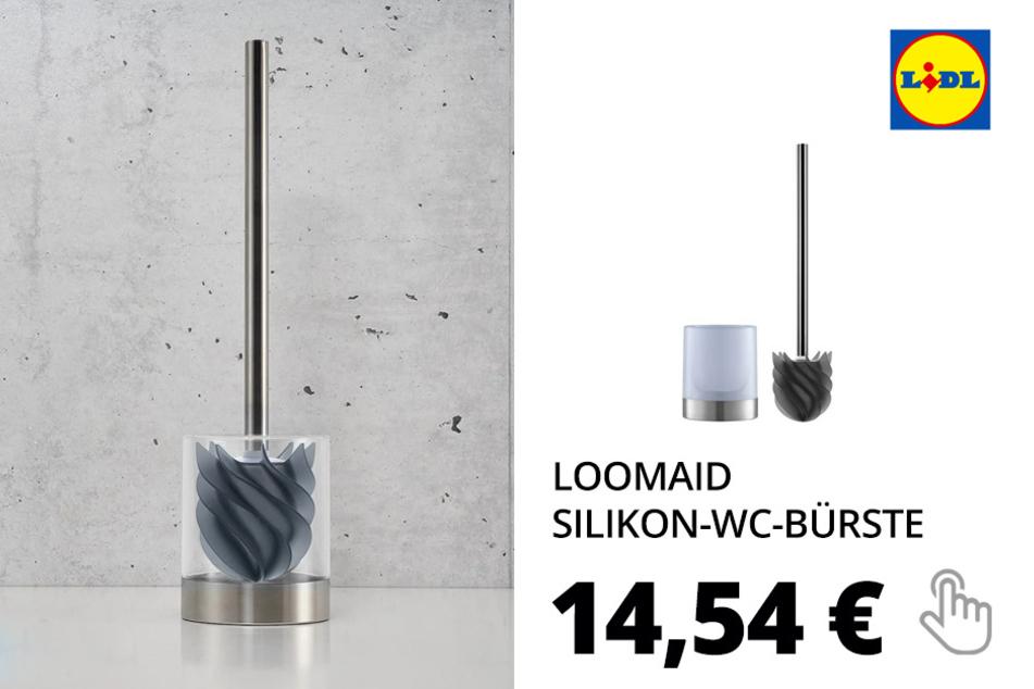 LOOMAID Silikon-WC-Bürste mit Ständer
