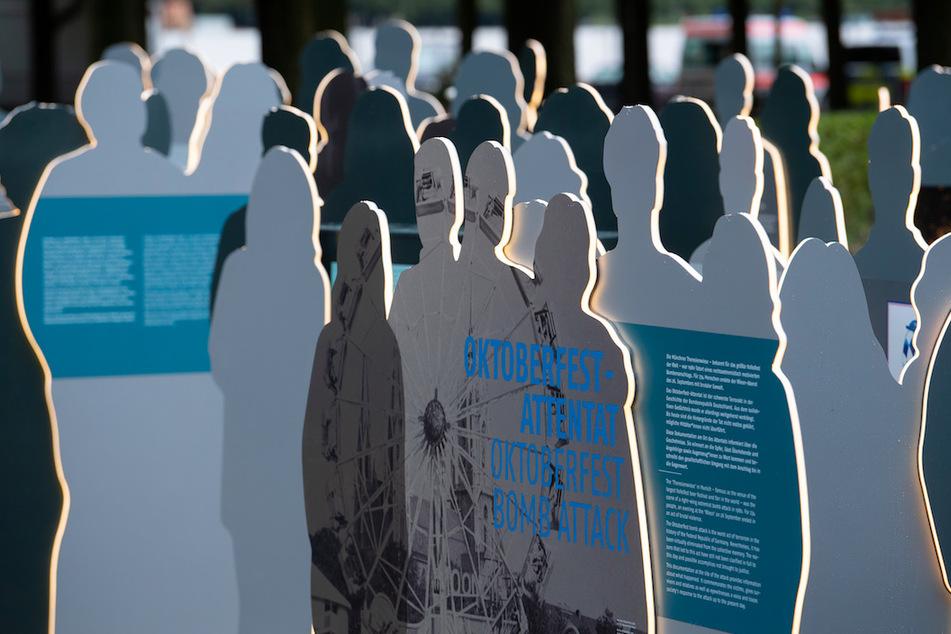 Das neue Dokumentationszentrum ist vor Beginn der Gedenkfeier zum 40. Jahrestag des rechtsterroristischen Attentats auf das Oktoberfest an der Theresienwiese zu sehen.