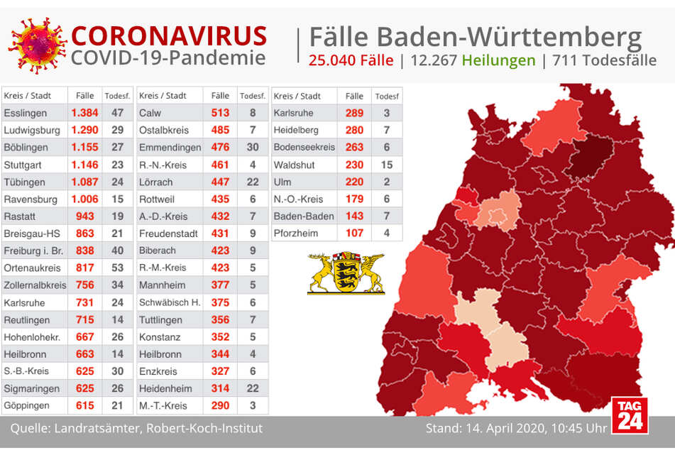 Corona Karte Baden-Württemberg