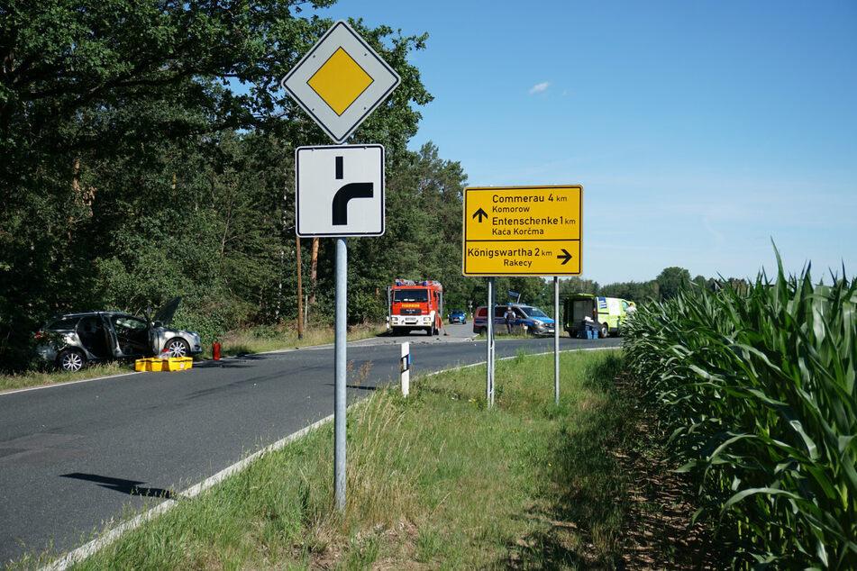 Der Unfall geschah kurz vor Königswartha.