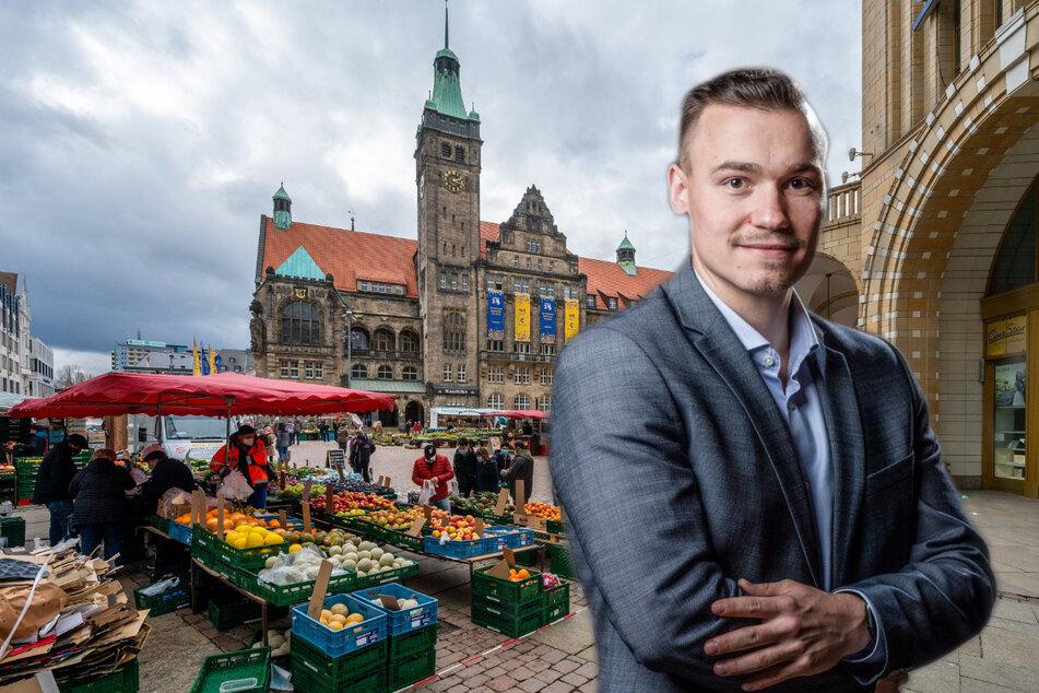 Renzo di Leo (28, CDU) spricht sich in der kommenden Haushaltsdebatte für die City-Belebung aus.