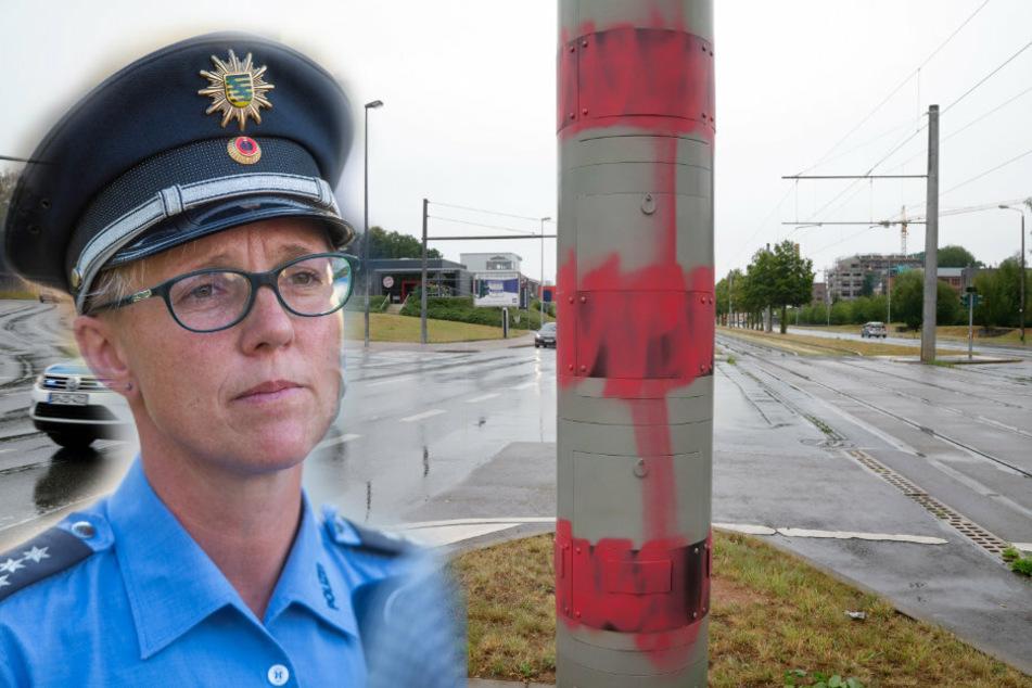 Chemnitz: Chemnitzer Polizei jagt den Blitzer-Rowdy