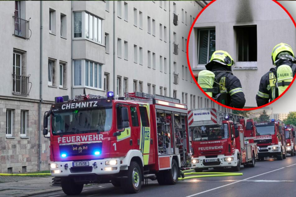 Chemnitz: Küche steht in Flammen, 12 Familien evakuiert