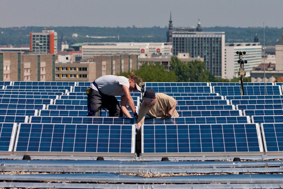 Gut fürs Klima: Die Solaranlage auf dem Dach des Gerber-Baus an der Technischen Universität.