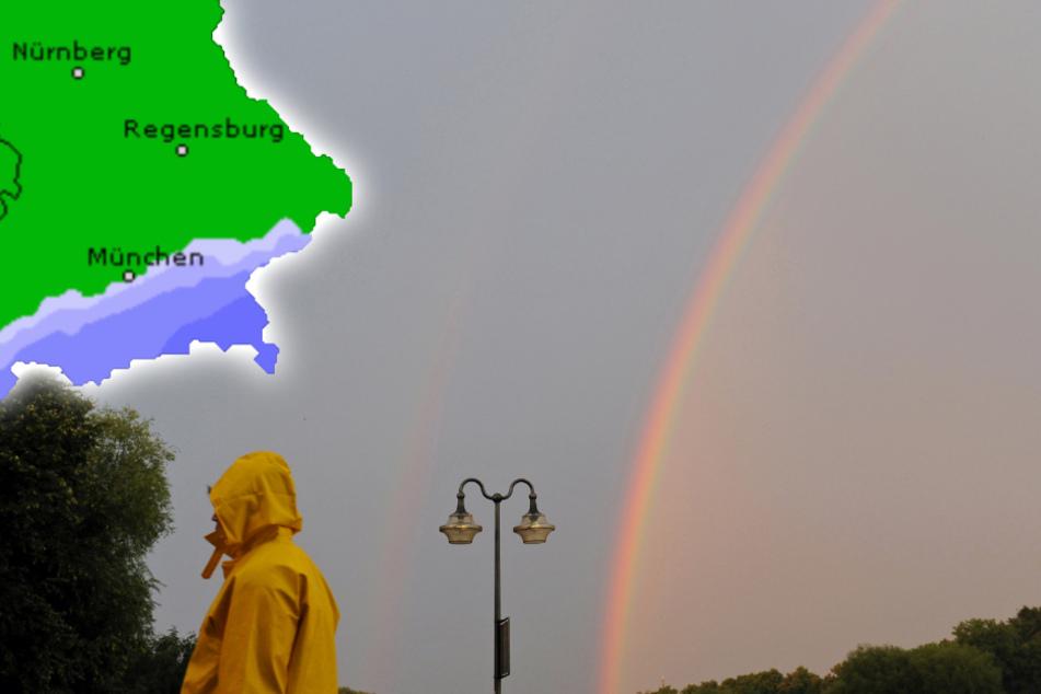 Regen mit Aussicht auf Sonne: So wird das Wetter in Bayern