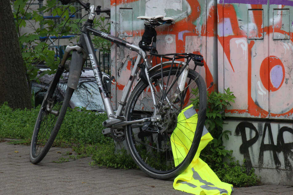 Das Hinterrad des Fahrrads wurde in Mitleidenschaft gezogen.