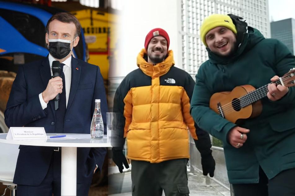 Von Macron persönlich herausgefordert: Französische YouTuber landen Corona-Hit