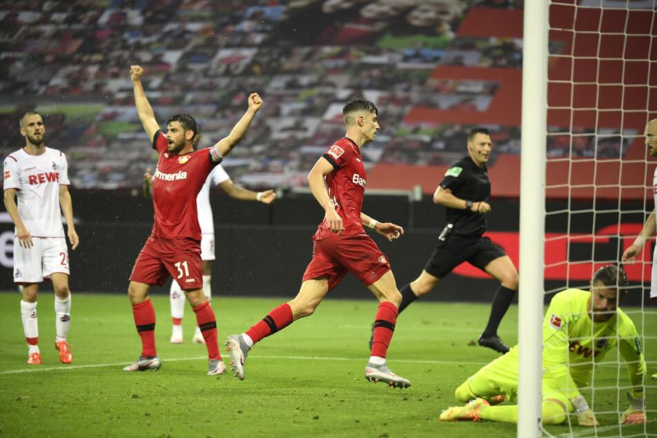 Leverkusens Kai Havertz trifft zum 2:0 gegen den 1. FC Köln (39.).