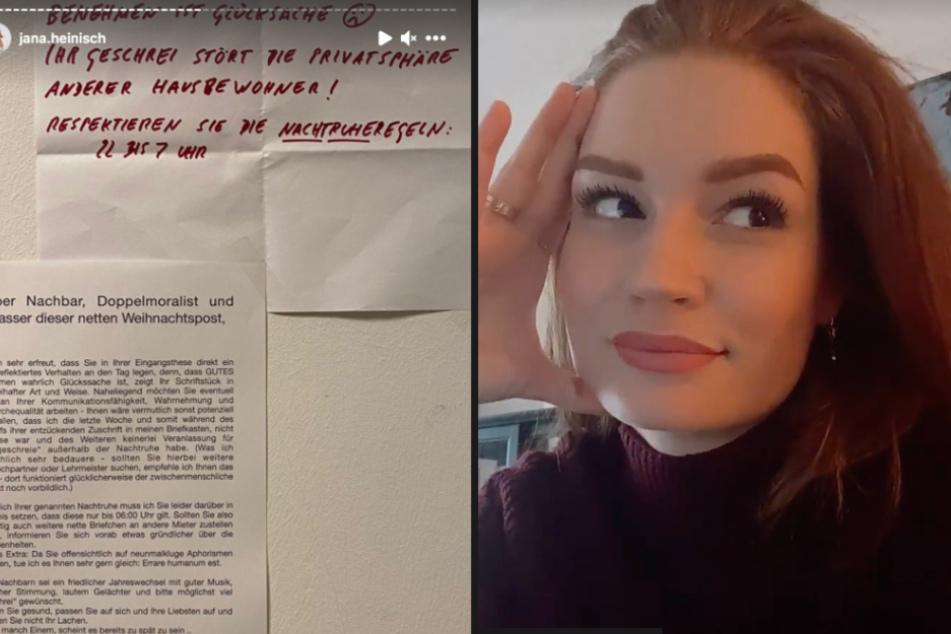 Influencerin Jana Heinisch bekommt fiesen Zettel vom Nachbarn und reagiert sofort