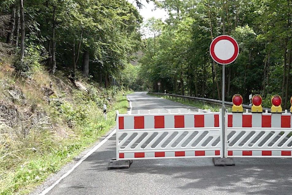 Unwetter in Sachsen-Anhalt: Straße bei Wernigerode gesperrt