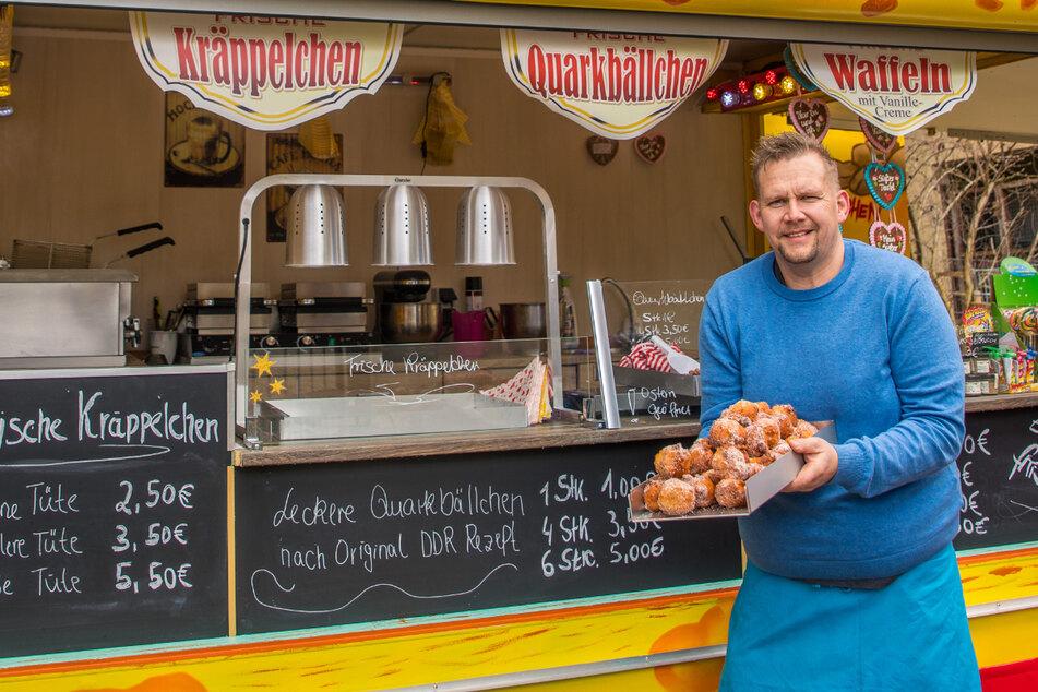Leipzig: Kräppelchen und Co.: Schausteller mit tragischer Vergangenheit kämpft sich mit Süßem durch die Pandemie