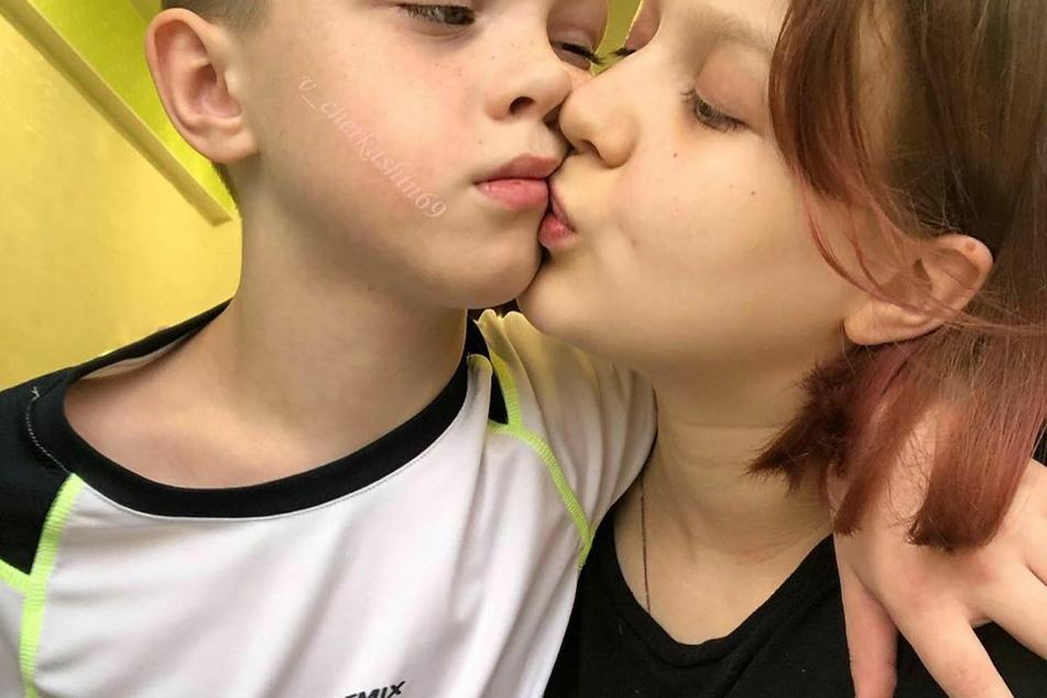 Mit Freund Iwan (11) war Darya schon vor der Schwangerschaft zusammen.