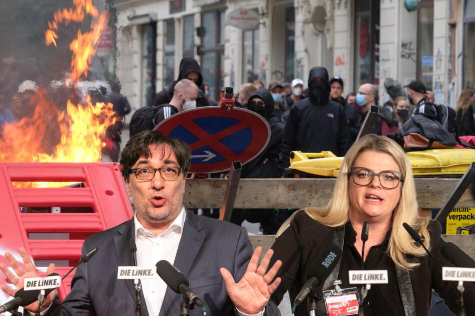 """Leipzig: Linke Spitzenpolitiker verurteilen Ausschreitungen bei """"Wir sind alle LinX""""-Demo"""