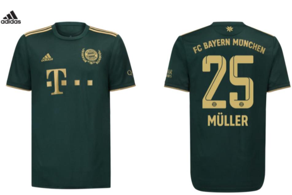 So sieht das neue Wiesn-Trikot 2021 aus. Dunkelgrün mit goldener Aufschrift.