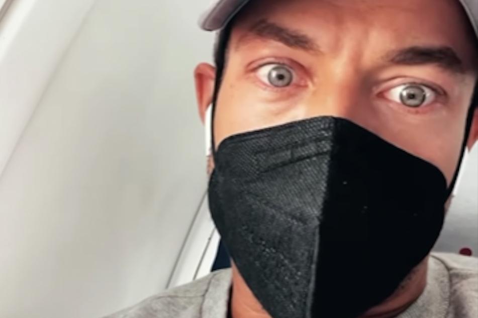 Andrej Mangold (34) meldete sich aus dem Flieger bei seinen Fans und sprach über sein aktuell stressiges Leben.