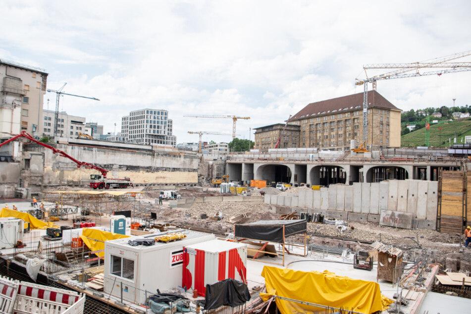 Die Baustelle für das Großprojekt Stuttgart 21.
