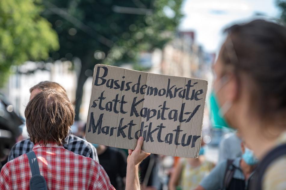 Fast alle Dresdner Klima-Initiativen protestierten am Freitag zusammen.