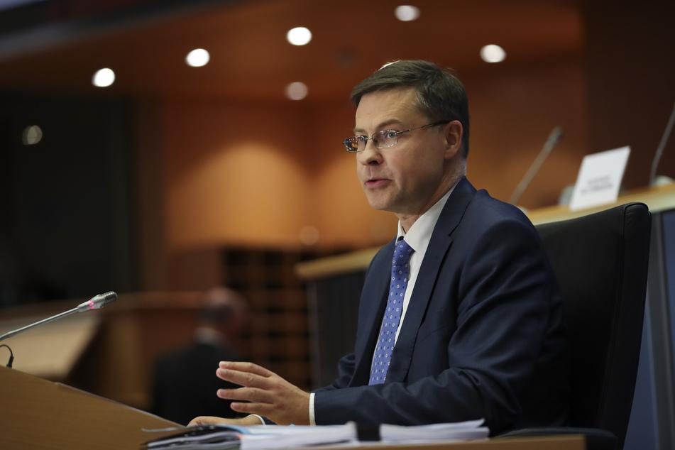 Valdis Dombrovskis, Vize-EU-Kommissar für Wirtschaft, aus Lettland.