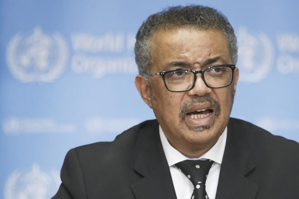 Tedros Adhanom Ghebreyesus, Generaldirektor der Weltgesundheitsorganisation (WHO), informiert bei einer Pressekonferenz über den aktuellen Stand der Situation bezüglich des Coronavirus.