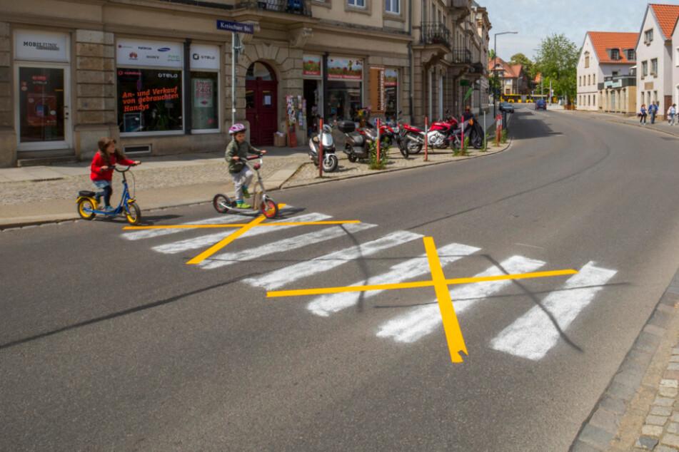 Dresden: Der Zebrastreifen-Ärger von Strehlen: Das hier ist kein echter