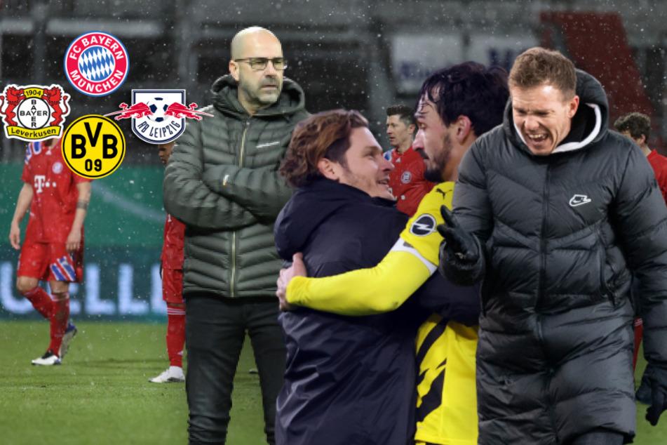 FC Bayern schwächelt: Nutzt das die Konkurrenz? Leipzig, Leverkusen und BVB im Check