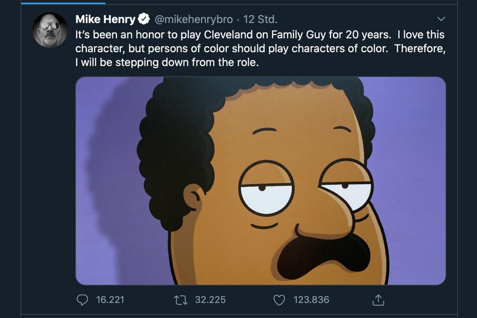 So teilte Mike Henry sein Serien-Aus mit.