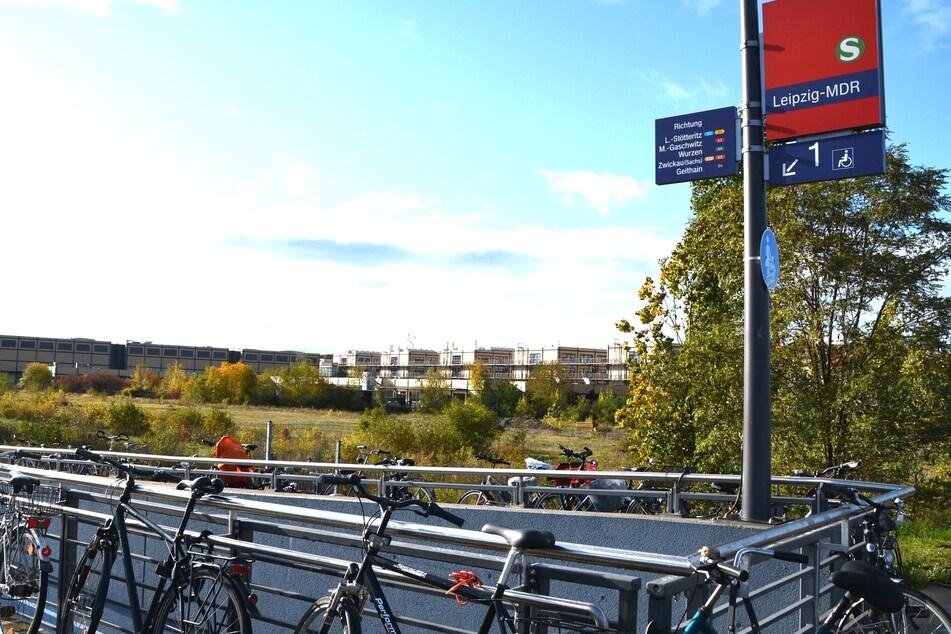 An dieser S-Bahn-Haltstelle in Leipzig schnappten die Diebe zu.