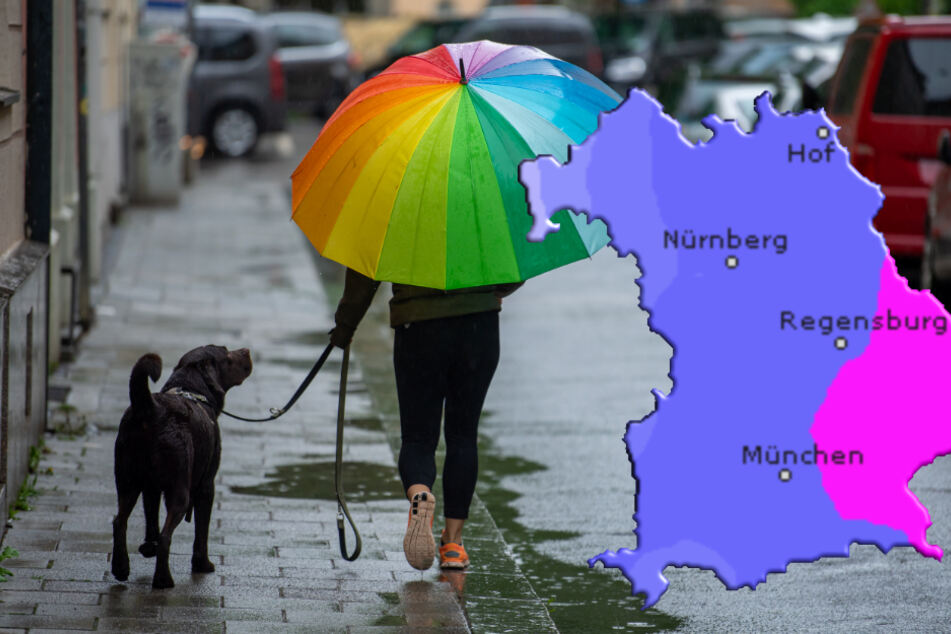 Die Menschen im Freistaat müssen sich in den nächsten Tagen auf Dauerregen einstellen. (Symbolbild)