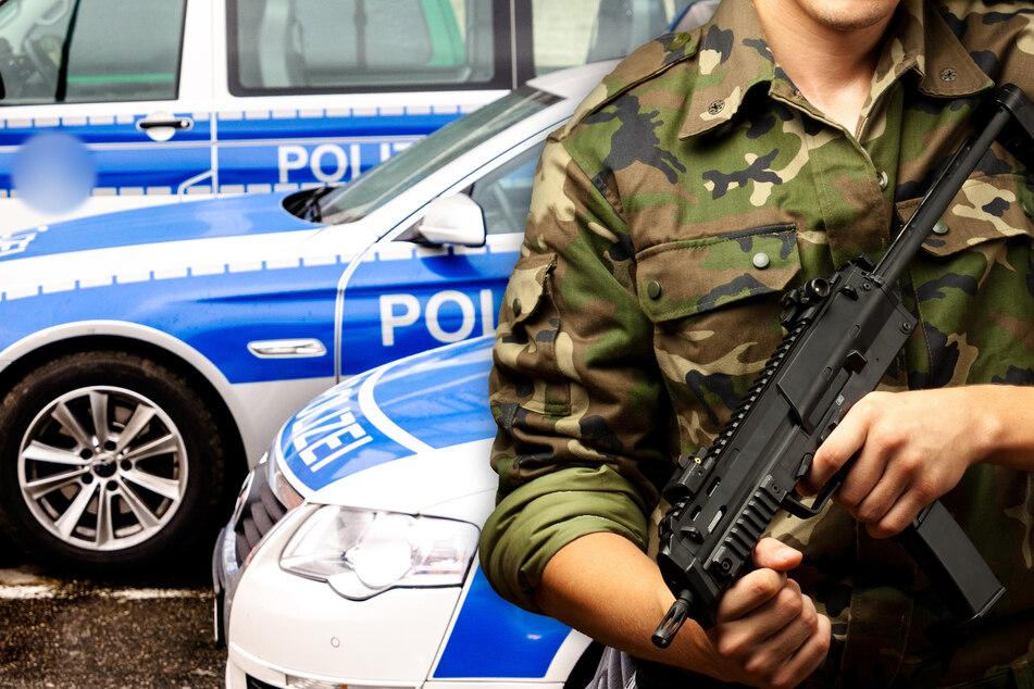 Mann mit Maschinengewehr ruft Polizei auf Plan: Als Beamte eintreffen, ist alles ganz anders
