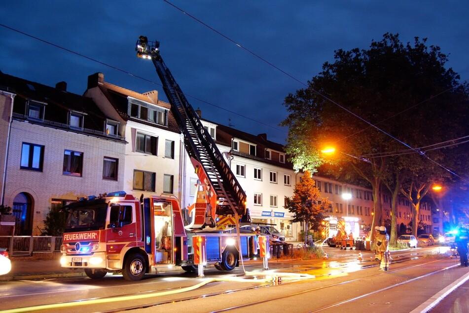Der zweite Feuerwehreinsatz in einer Nacht. Zum Glück wurde dabei niemand verletzt.