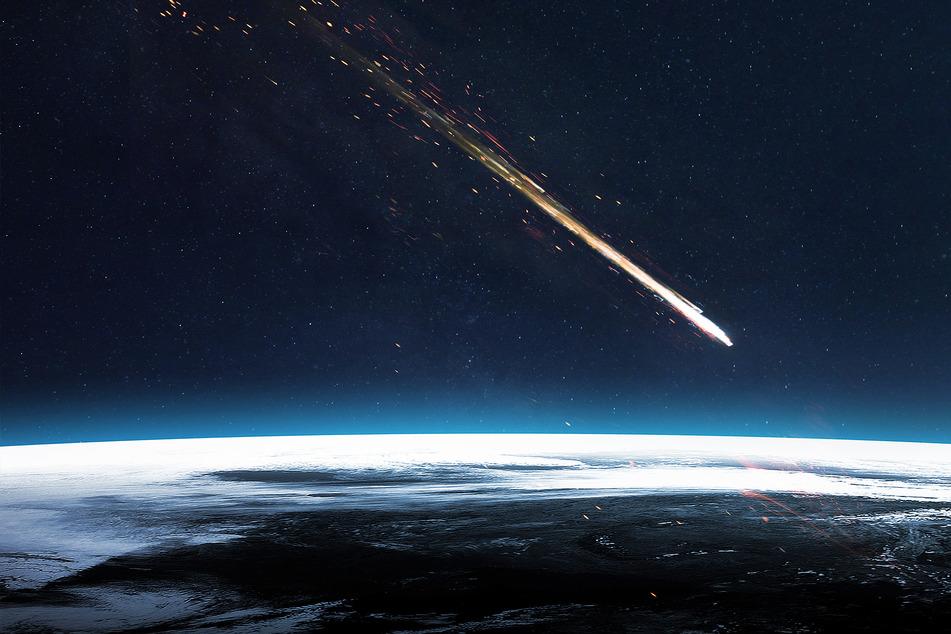 Ein Meteorit ist auf der Erde eingeschlagen (Symbolbild).