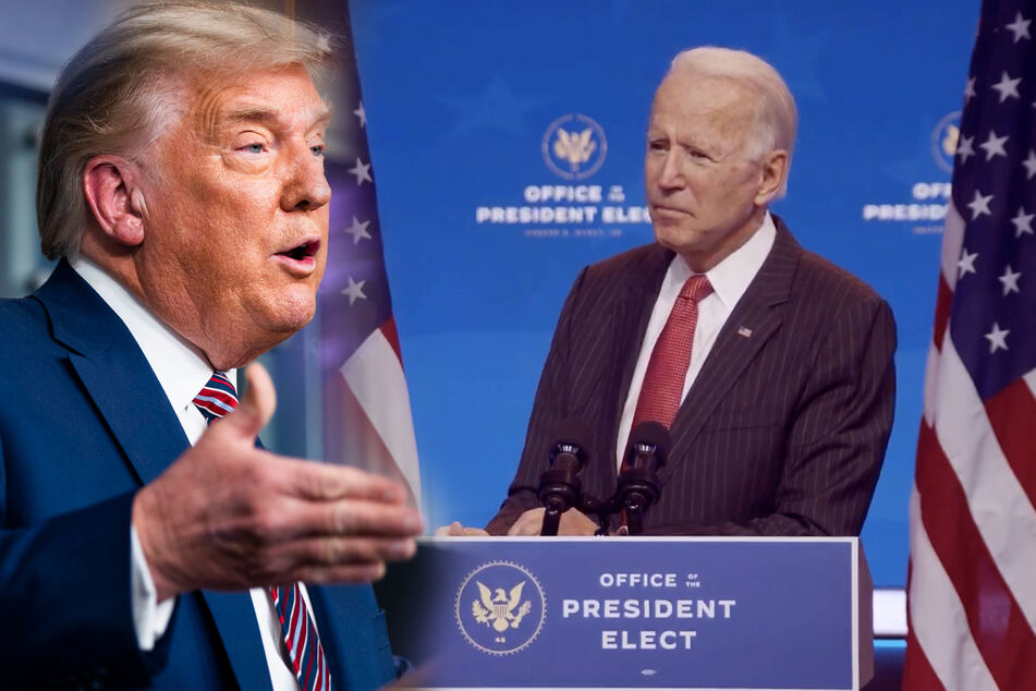 President Donald Trump has giben given the GSA a green light to work with the incoming Biden administration (collage).