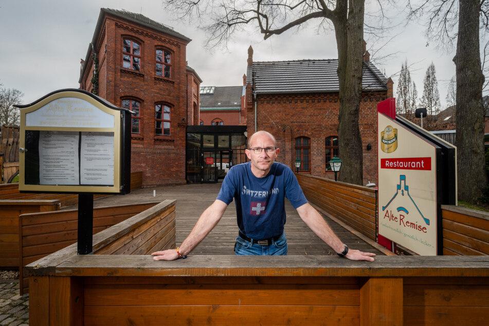 """Die Stadt Zwickau wirft Wirt Sven Naundorf (46) aus seinem Restaurant """"Alte Remise"""" im Johannisbad."""