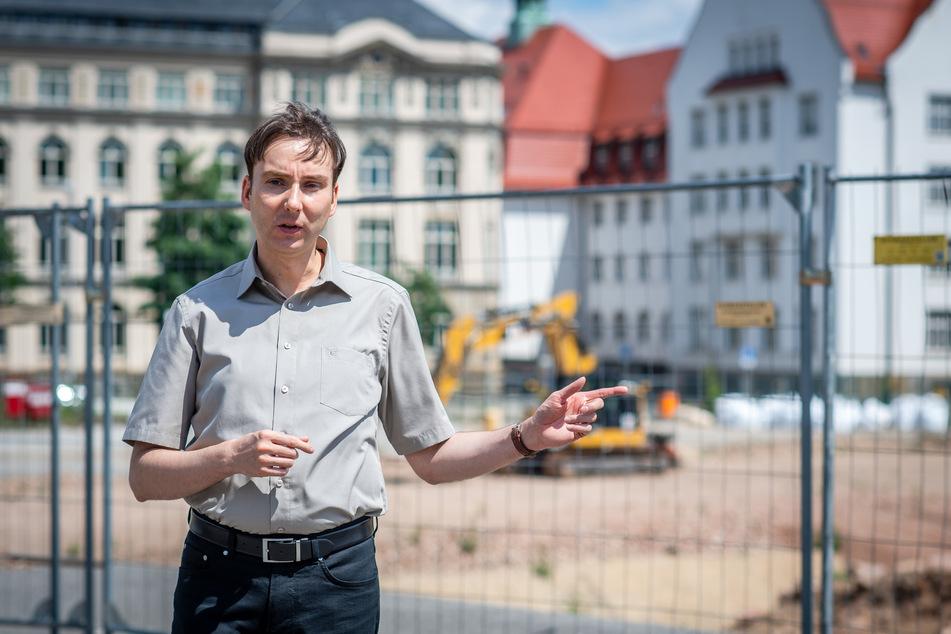 Stadthistoriker Sandro Schmalfuß (41) ist sauer, weil er vom Staatsministerium für Regionalentwicklung nicht berücksichtigt wurde.