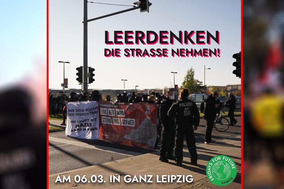 """Mit diesem Foto rufen die Klimaschützer von """"Fridays for Future"""" auf Facebook zum Protest gegen die für Samstag angekündigten Anti-Corona-Demos in Leipzig auf."""