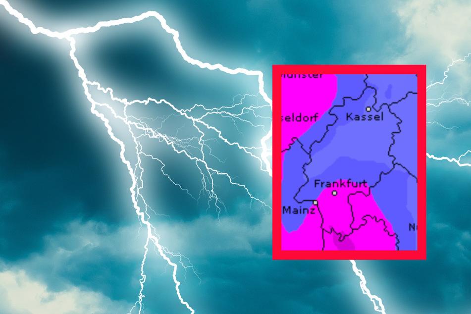 Auch der Dienst Wetteronline.de (Grafik) sagt starke Niederschläge für den Mittwoch in Hessen voraus.