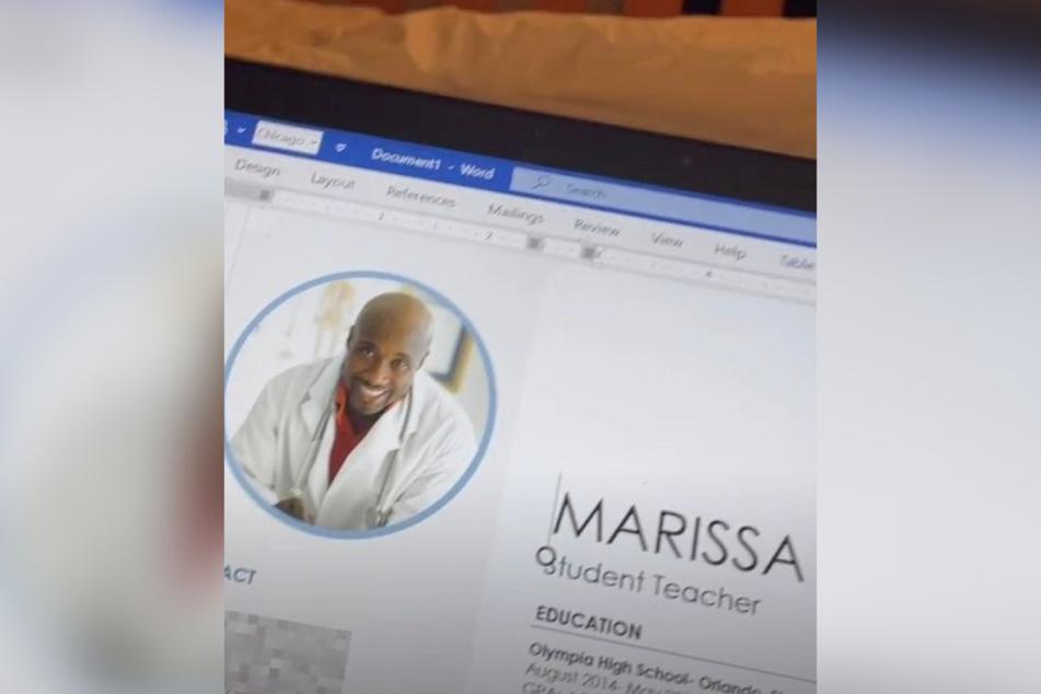 Für den Lebenslauf hat Marissa eine Vorlage verwendet.