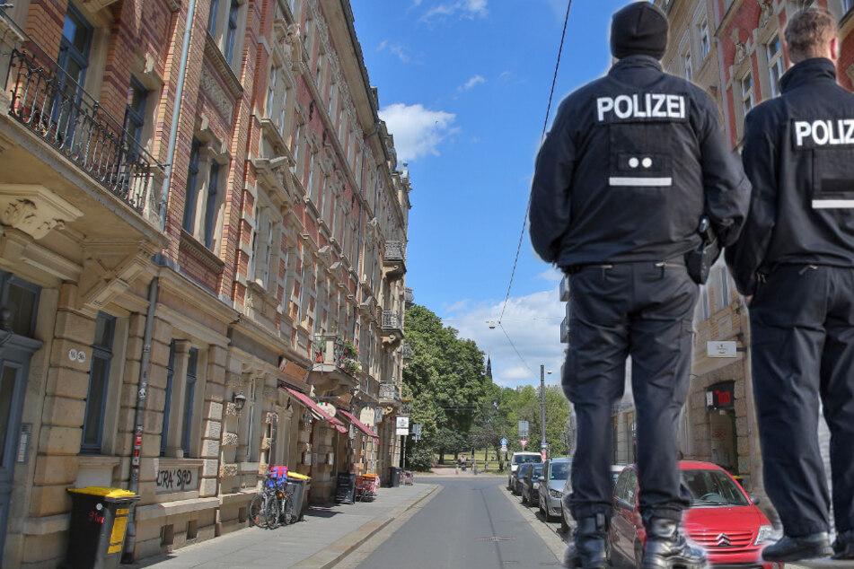 Die Tat geschah auf der Dresdner Alaunstraße. (Bildmontage)