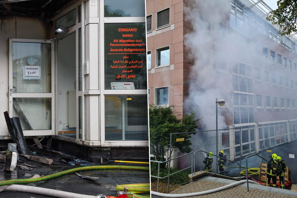 Annaberg-Buchholz: Brand in Agentur für Arbeit
