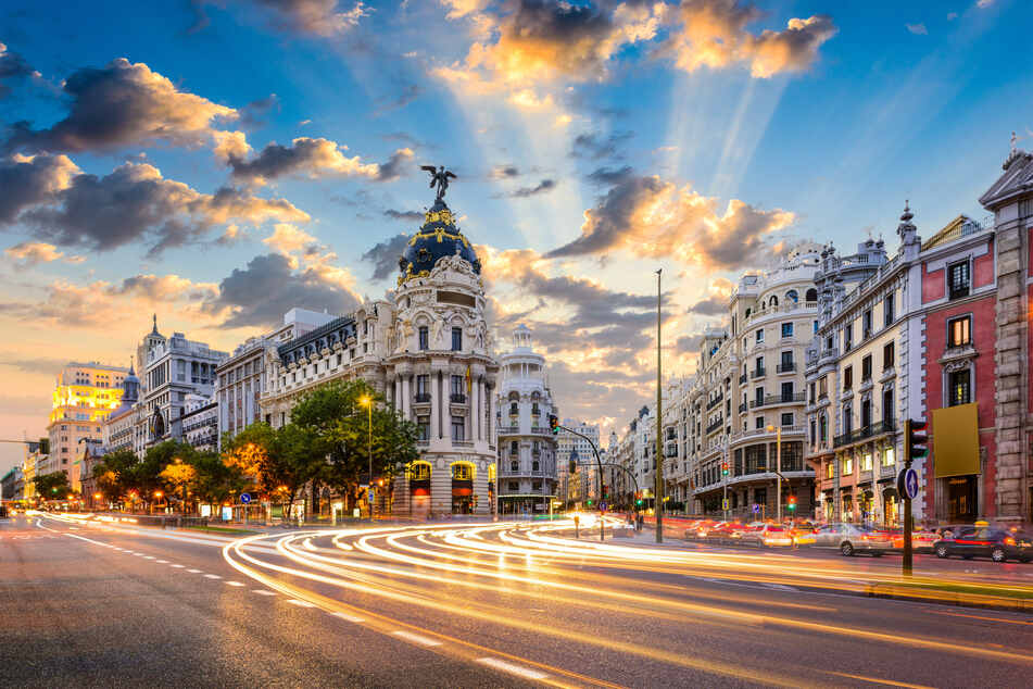 Blick in die Straßen Madrids.
