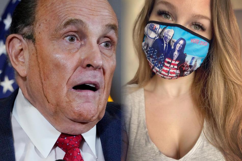 Während einer Pressekonferenz lief Rudy Giuliani Haarfärbemittel die Wange herunter. Seine Tochter Caroline Giuliani outete sich als Biden-Wählerin.