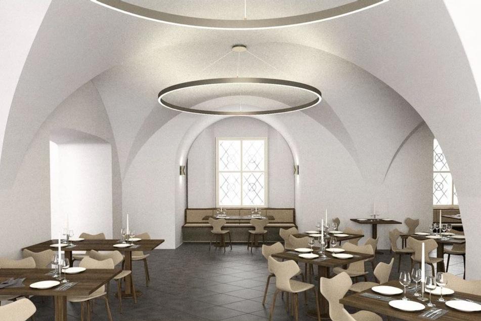 So soll das künftige Schlossrestaurant aussehen. Der Entwurf stammt von Stararchitekt Peter Kulka (83).