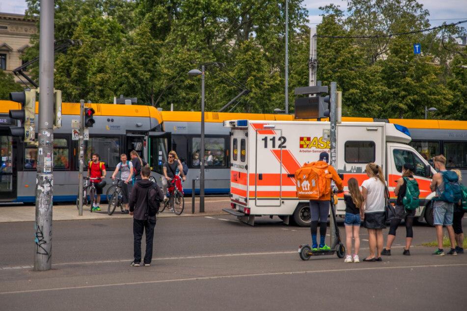 Am Wilhelm-Leuschner-Platz in Leipzig ist es am Freitagnachmittag zu einem Unfall gekommen.