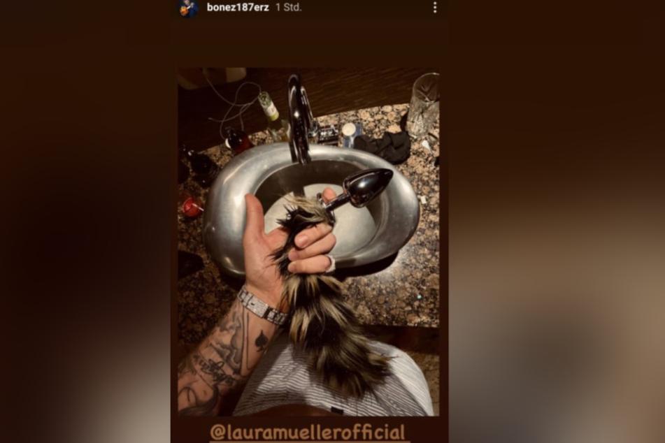 Dieses Foto postete 187-Rapper Bonez MC in seiner Instagram-Story und verlinkte Laura Müller.
