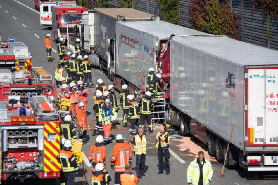 Unfall-Drama auf A1: Lastwagen rast in Stauende, ein Mensch stirbt