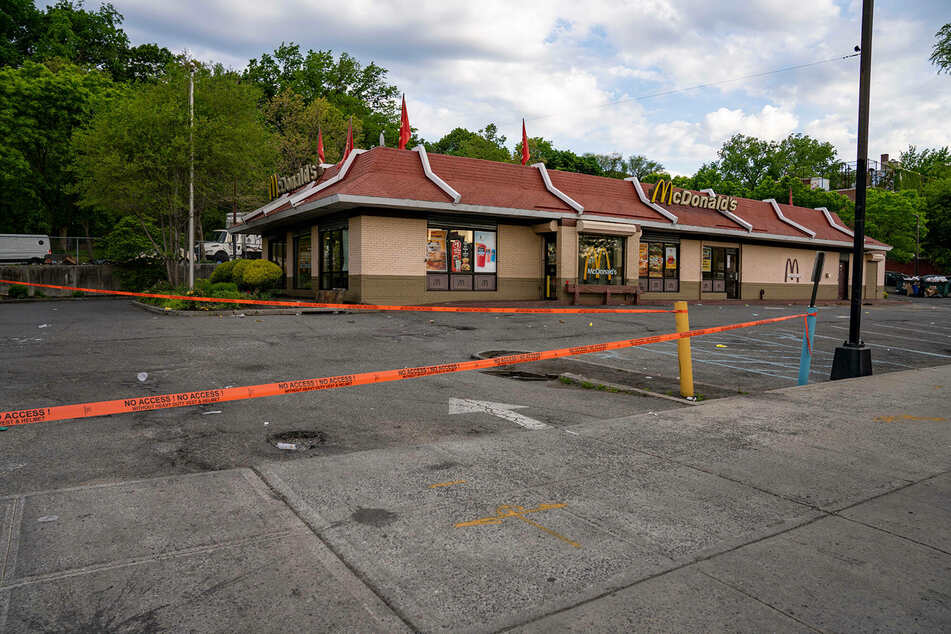 The shooting occurred outside a McDonald's in the Bronx, New York.