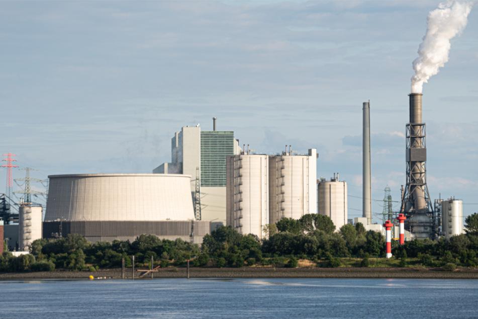 Vom Hamburger Hafen ist das Kohlekraftwerk Moorburg gut zu sehen. (Archivbild)